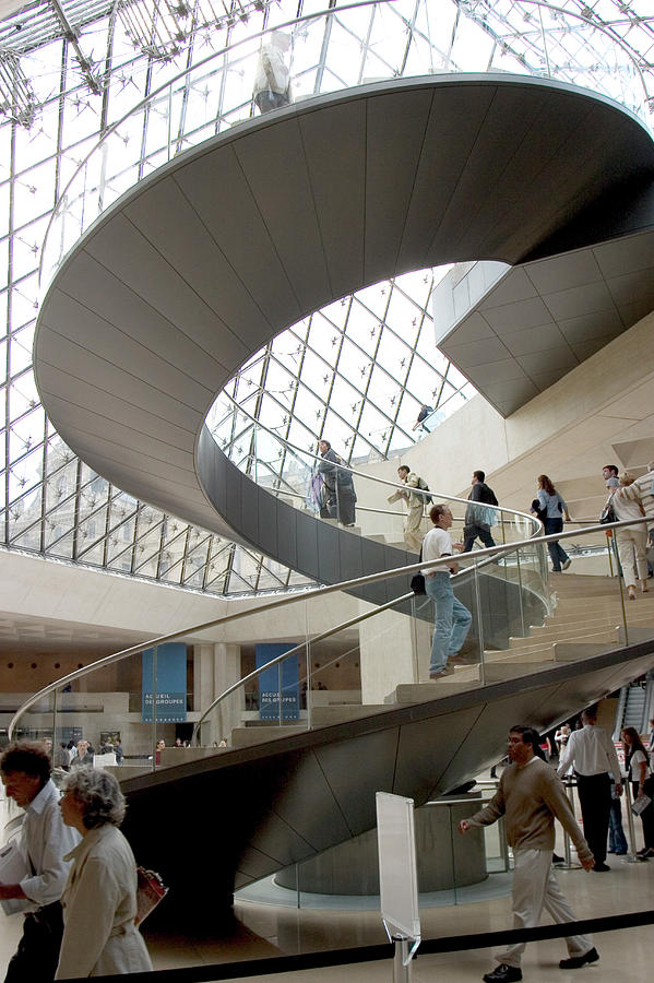 Genius Photograph - Spiral Staircase By I.m. Pei by Carl Purcell