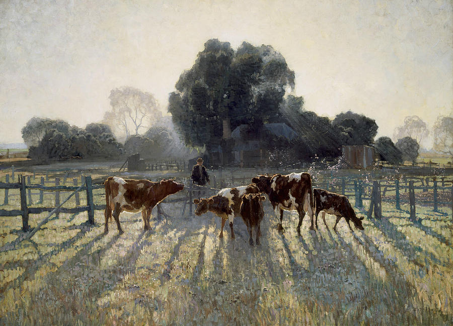 Spring Frost Painting - Spring Frost by Elioth Gruner