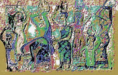 Human Composition Mixed Media - Spring by Noredin Morgan