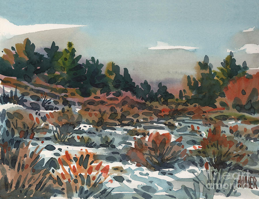 Spring Painting - Spring Thaw by Donald Maier