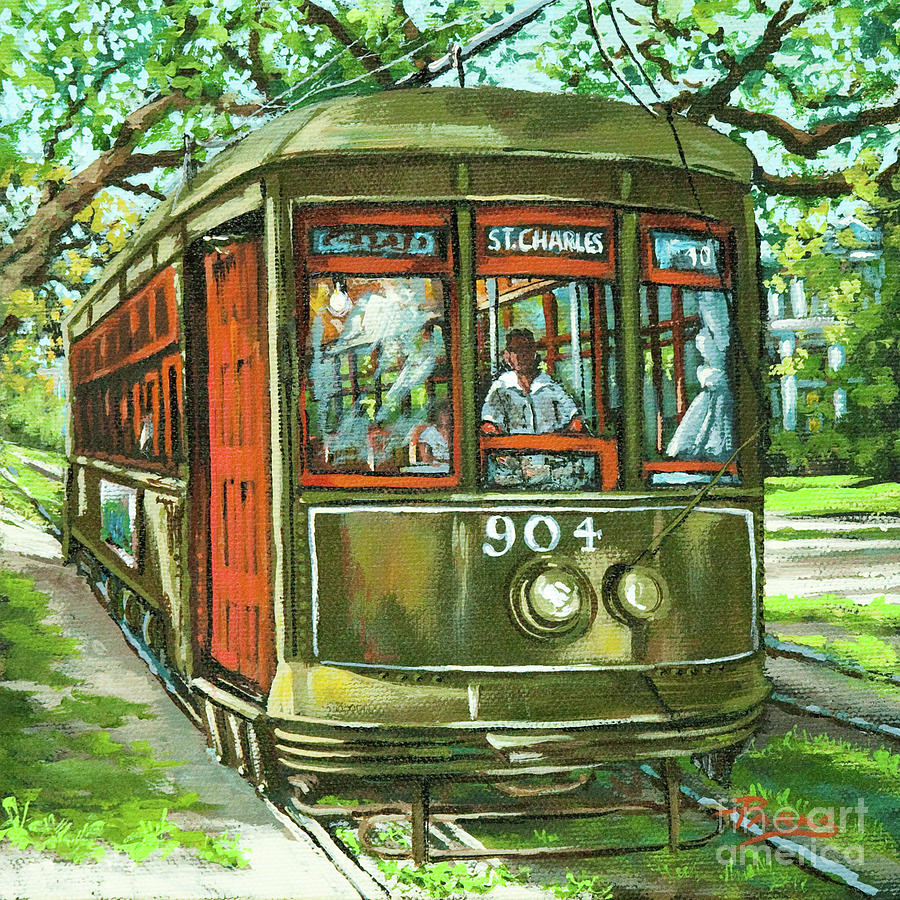 Streetcar Painting - St. Charles No. 904 by Dianne Parks