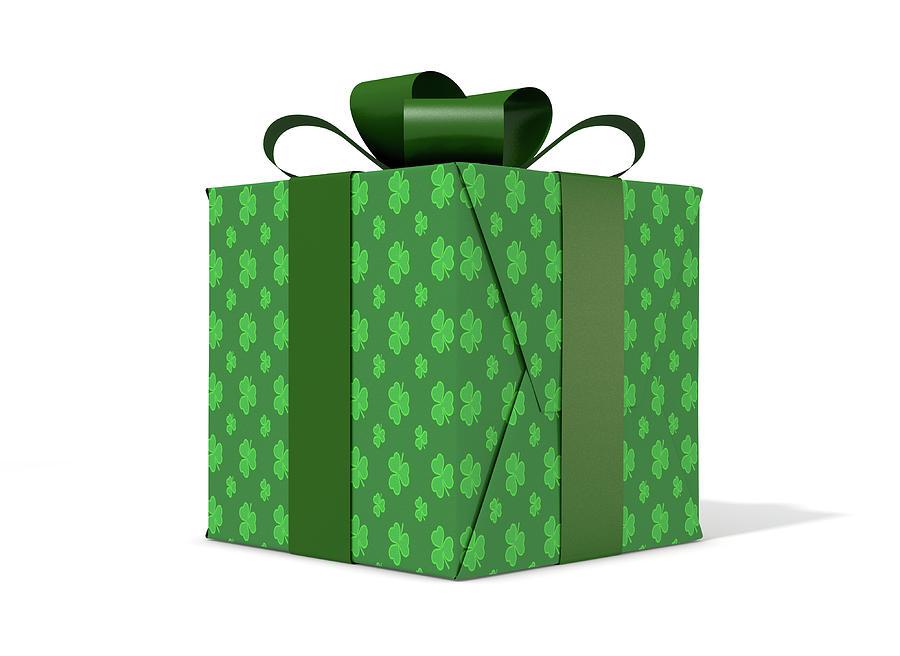 Present Digital Art - St Patricks Day Cube Gift by Allan Swart