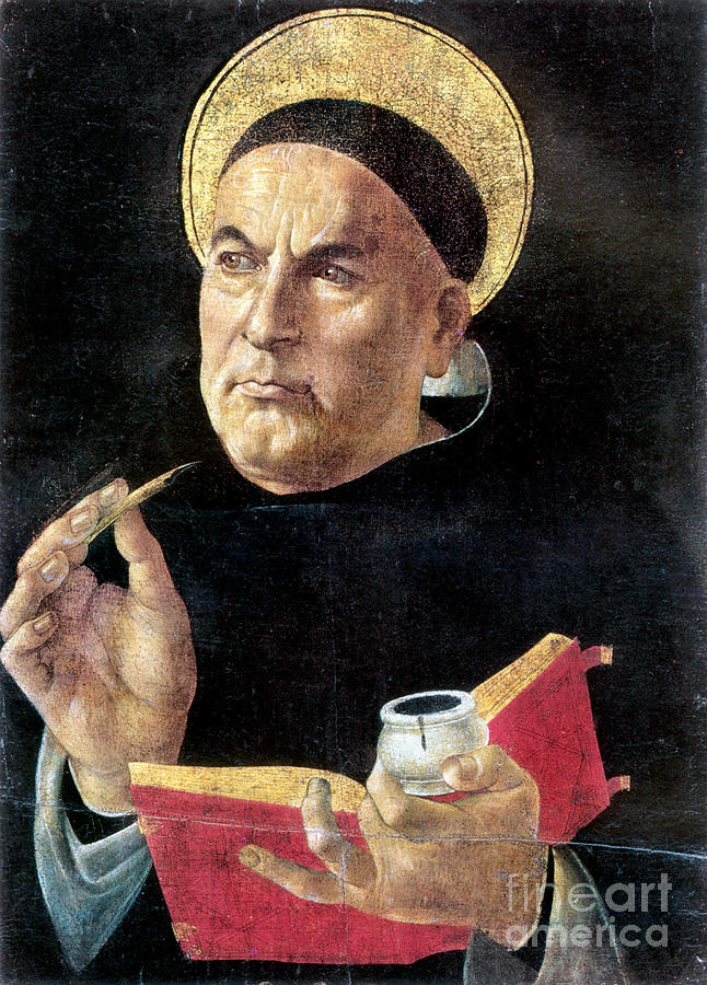 15th Century Painting - St. Thomas Aquinas by Granger