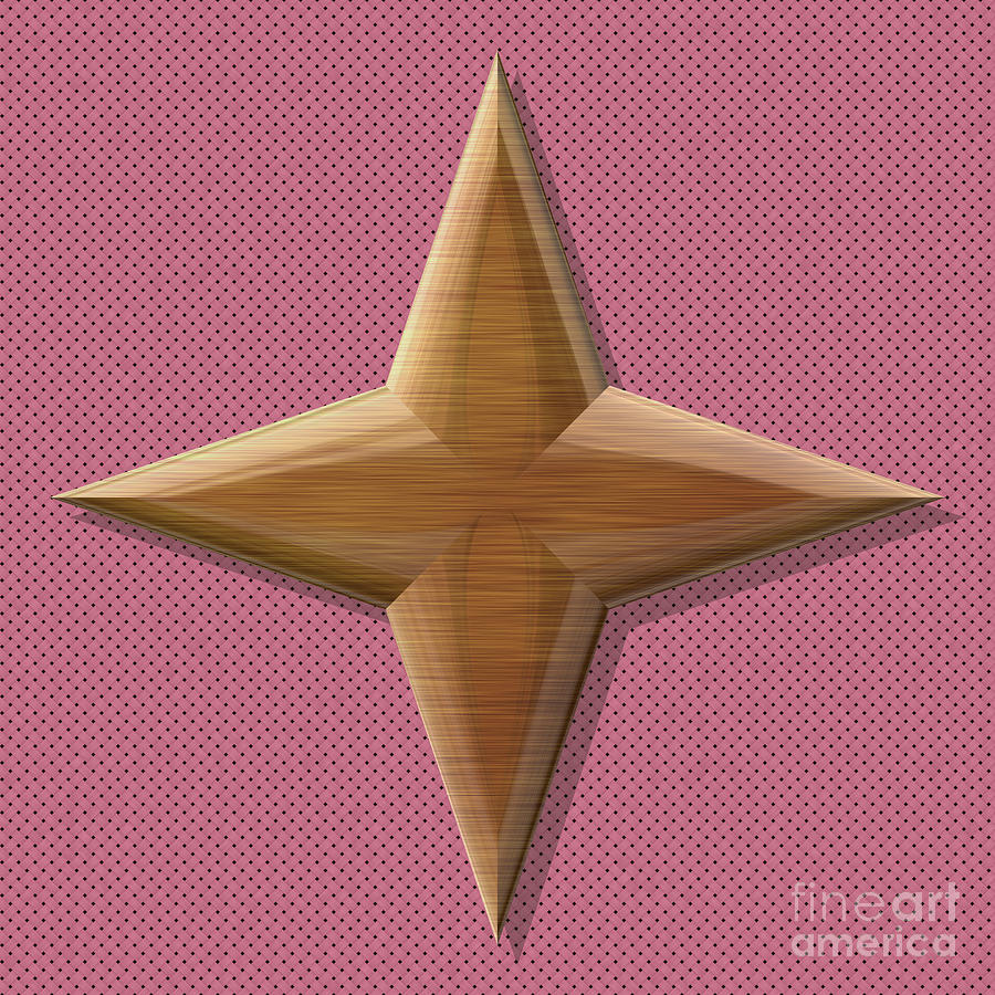 Star Shape Frame With Seamless Generated Texture Digital Art