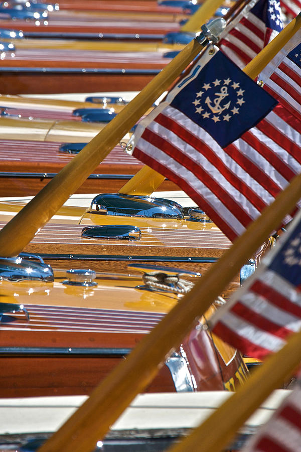 Stars Photograph - Stars And Stripes On The Water by Steven Lapkin