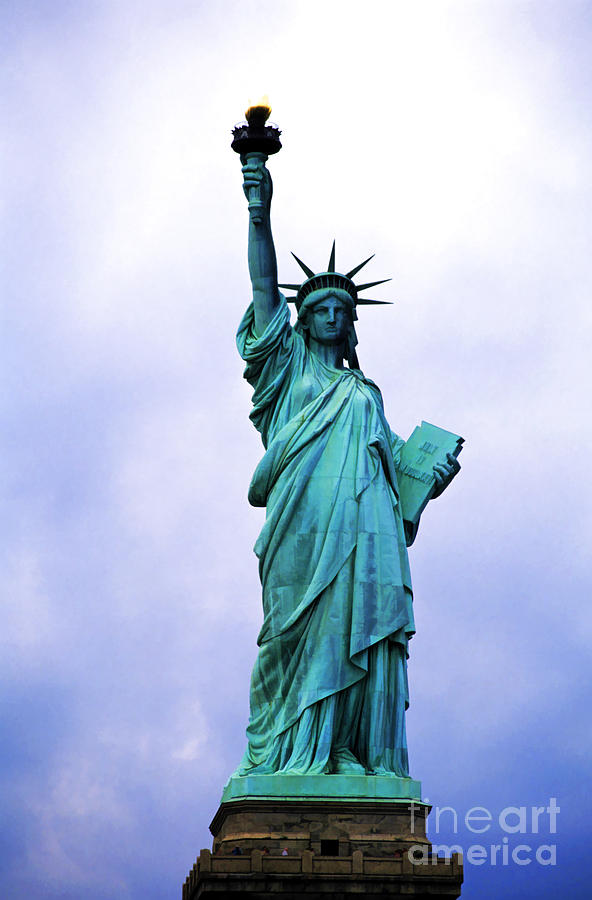 America Photograph - Statue Of Liberty by Sami Sarkis