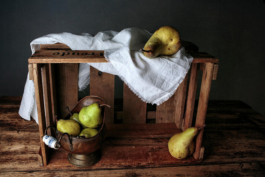 Still Life Photograph - Still-life With Pears by Nailia Schwarz