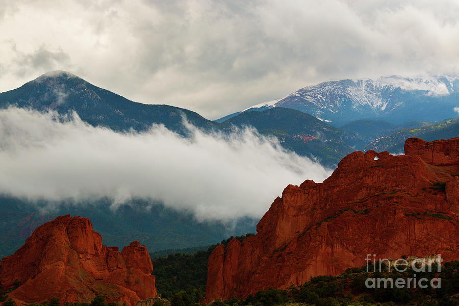 Storm Brewing At Garden Of The Gods Photograph