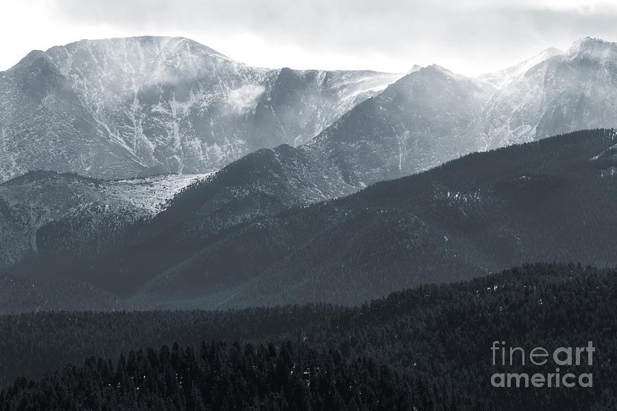 Stormy Pikes Peak Photograph