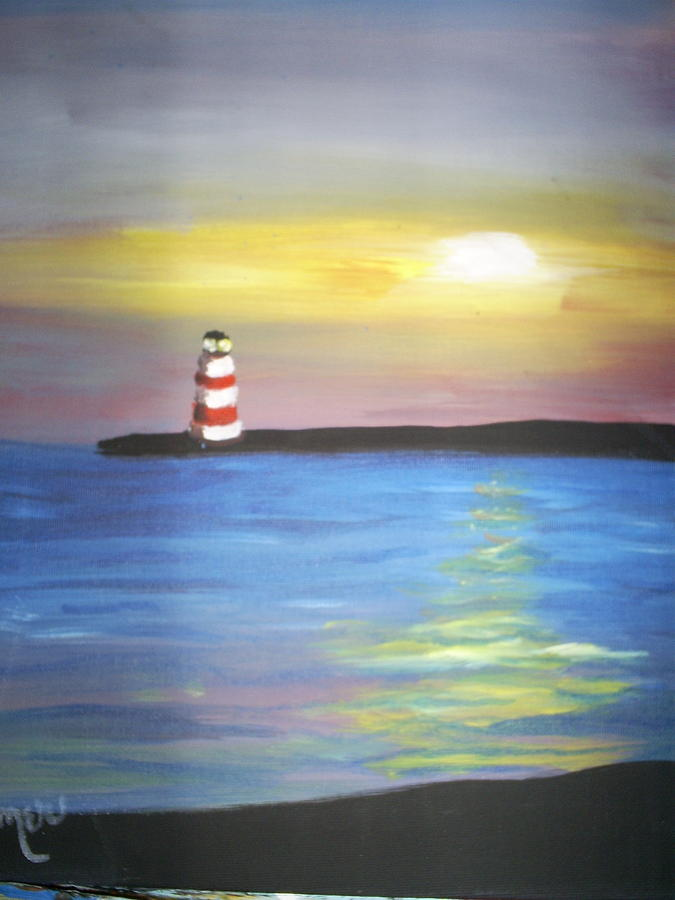 Sun Set Painting - Sun Set by Margaret Palmer