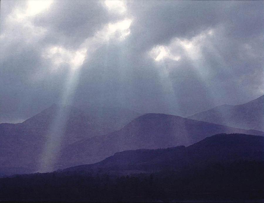 Sun Beams Digital Art - Sunbeams Over Derwent by Julian Perry
