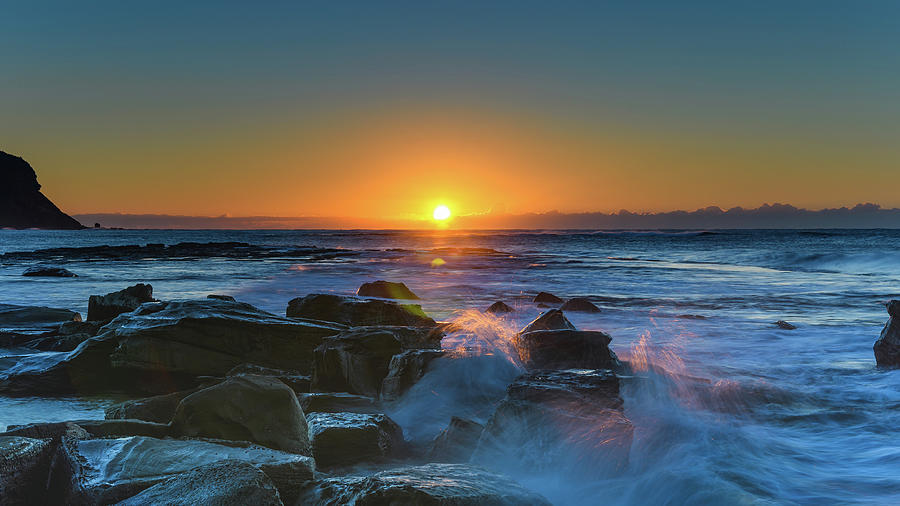 Australia Photograph - Sunrise And The Sea by Merrillie Redden