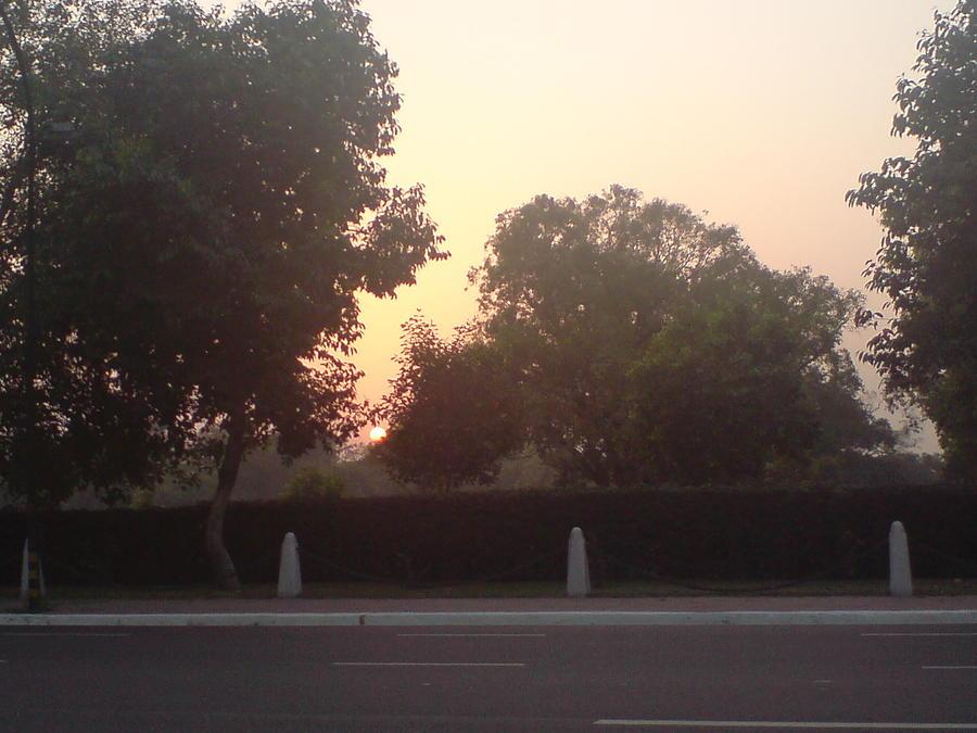 Sunrise In Delhi Photograph by Lalitmohan Khungar