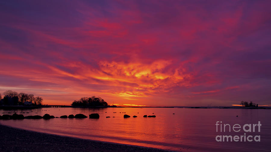 Sunrise on Long Island Sound by New England Photography