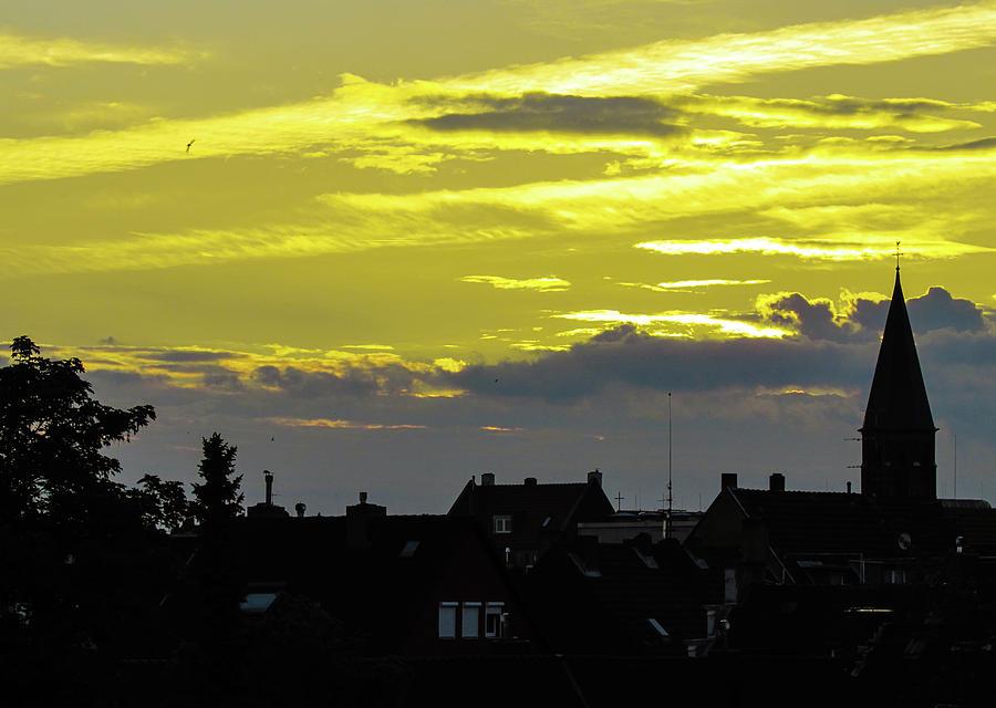 Sunset Photograph - Sunset In Koln by Cesar Vieira