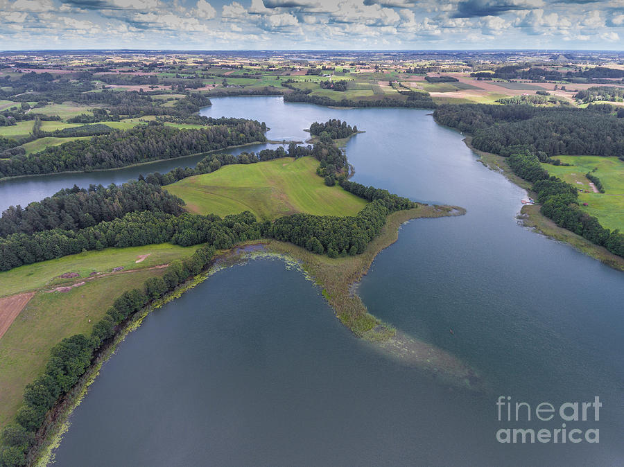 Suwalki Landscape Park, Poland. Summer Time. View From Above. Photograph