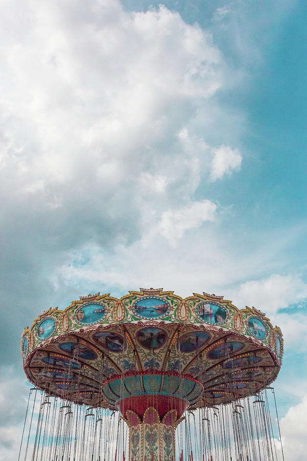 Swings Photograph - Swings With Stormy Sky by Erin Cadigan