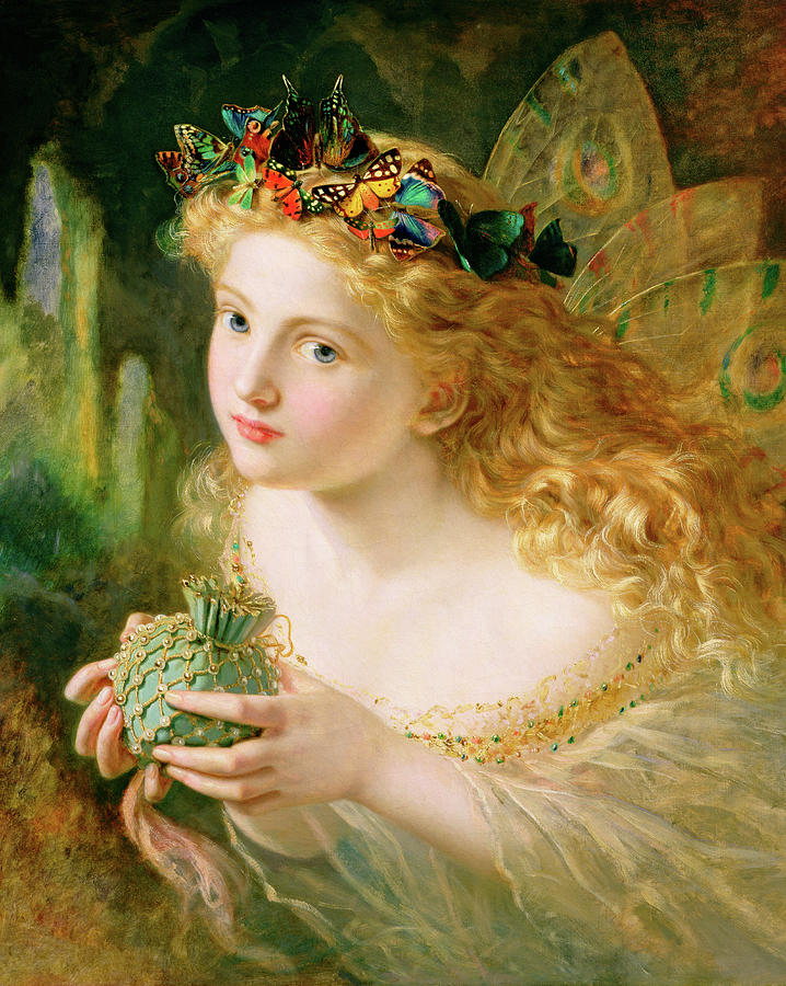 Butterflies Painting - Take The Fair Face Of Woman 2 by Sophie Anderson