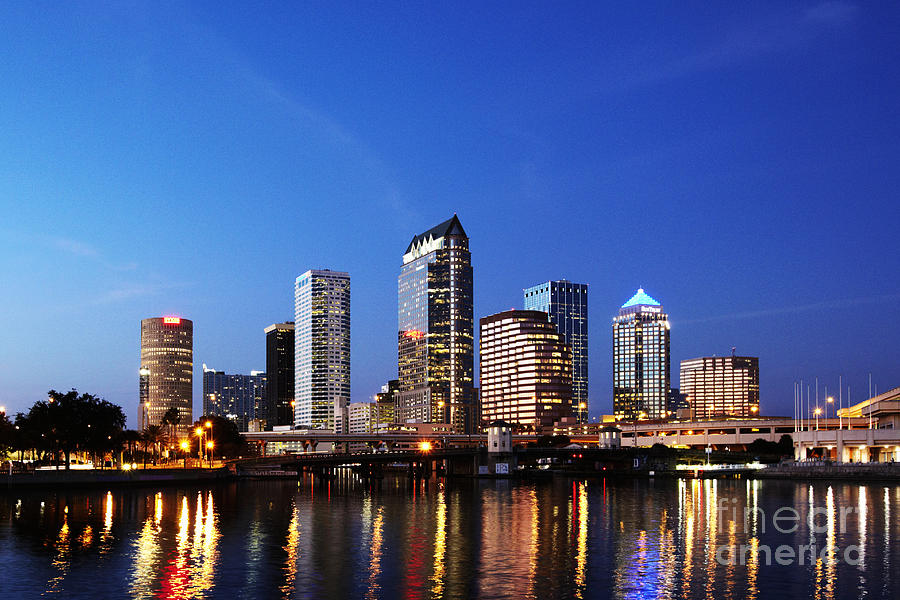 Architecture Photograph - Tampa Skyline by Skip Nall