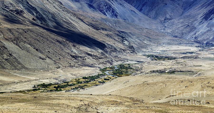 Tangsey Village Landscape Of Leh Ladakh Jammu And Kashmir India Photograph