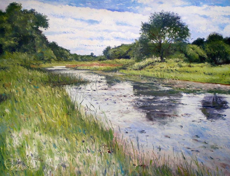 Impressionism Painting - Thamalakane River At Maun Botswana 2008  by Enver Larney