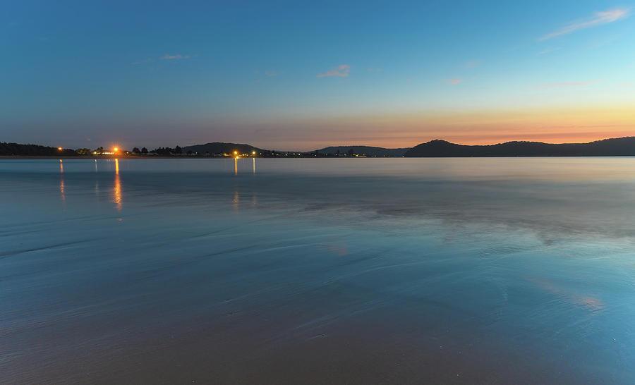 Australia Photograph - The Blues - Daybreak Seascape by Merrillie Redden