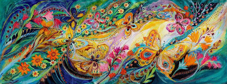 The dance of butterflies Painting by Elena Kotliarker