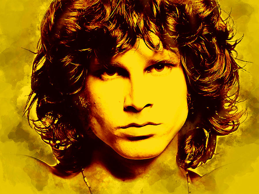 The Doors Jim Morrison Mixed Media by Love Art