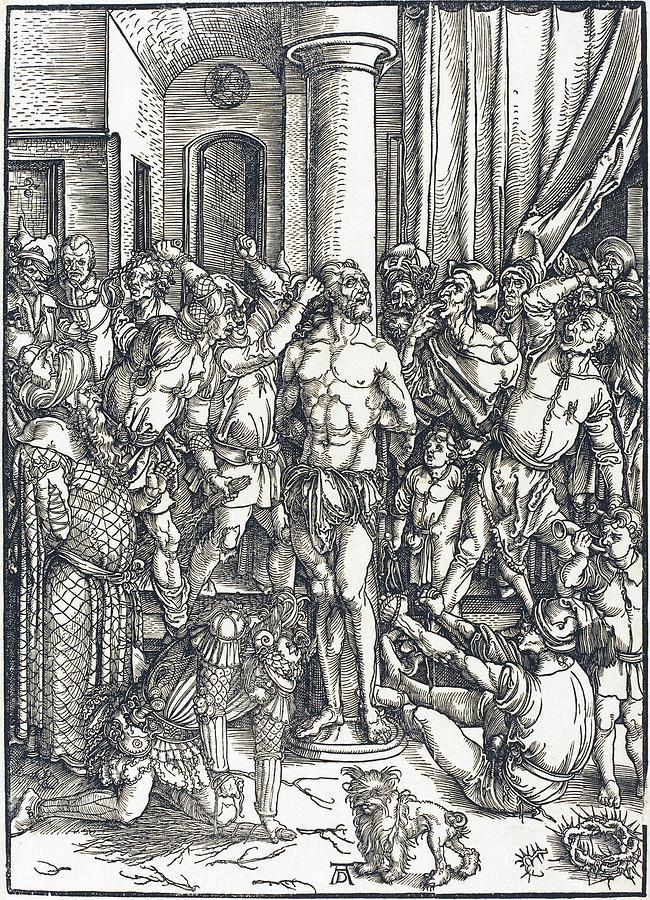 Durer Drawing - The Flagellation by Albrecht Durer