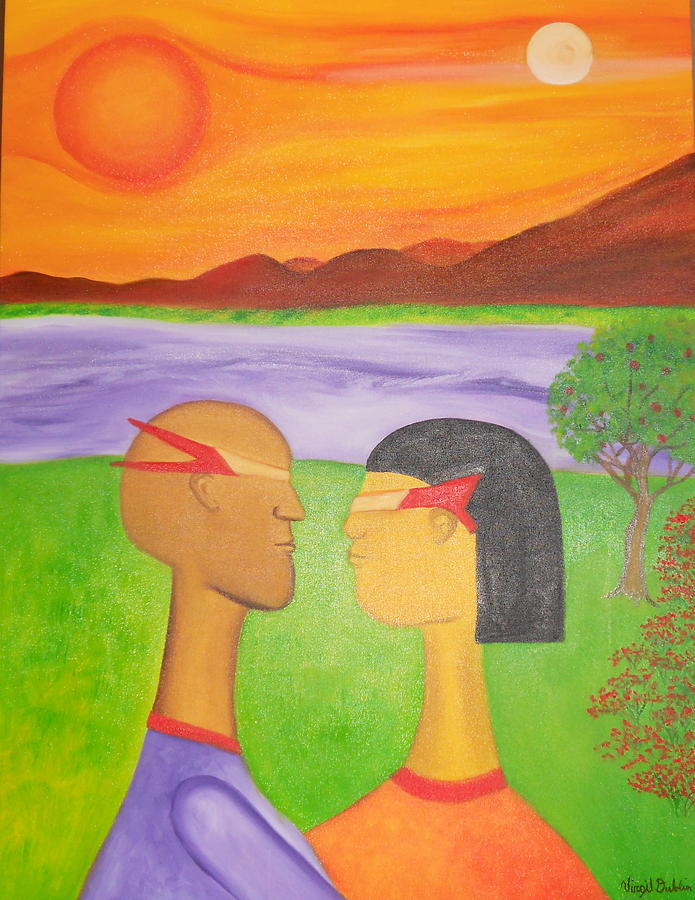 Landscape Painting - The Future Of Love by Virgil Dublin