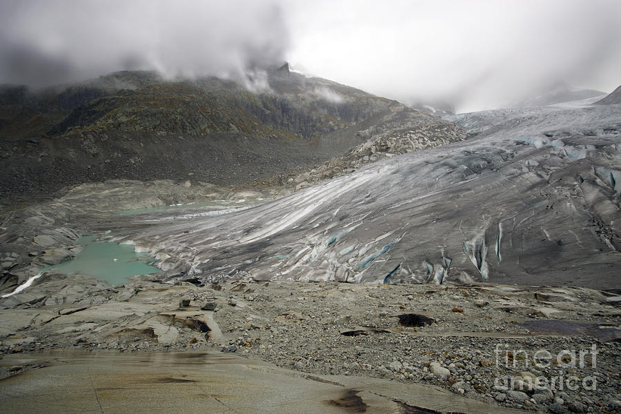 Glacier Photograph - The Glacier by Angel  Tarantella