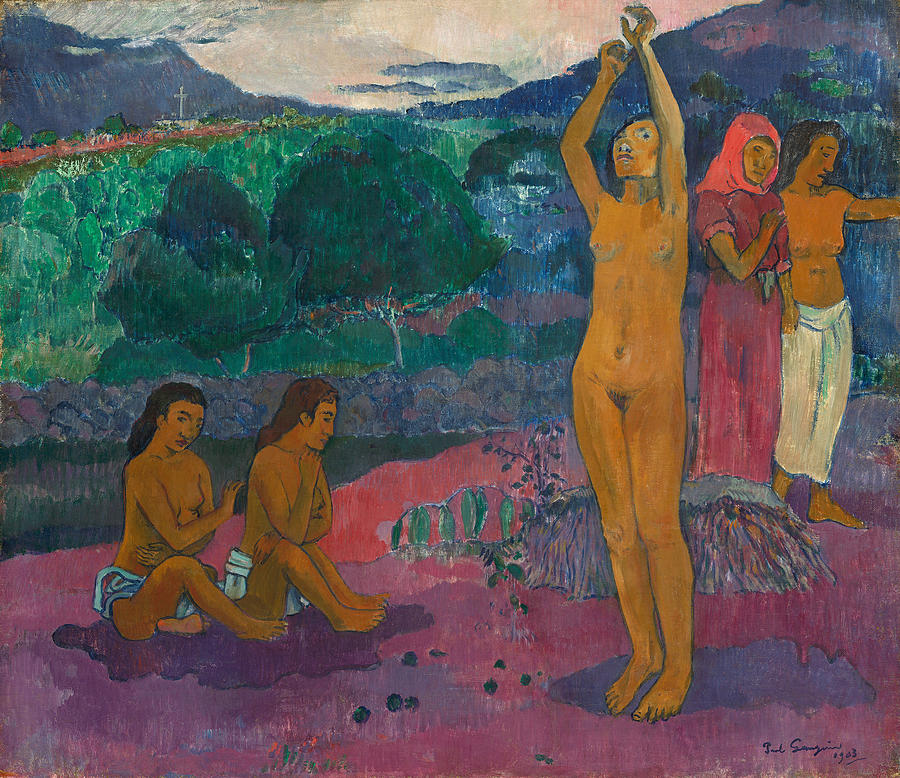 Paul Gauguin Painting - The Invocation by Paul Gauguin