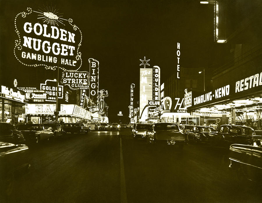 1950s Photograph - The Las Vegas Strip by Underwood Archives