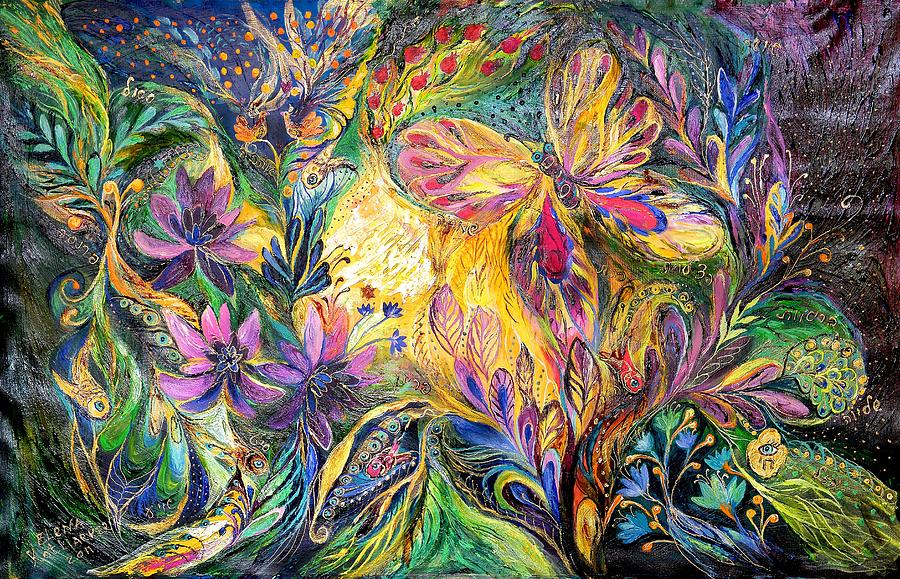 Original Painting - The Life Of Butterfly by Elena Kotliarker