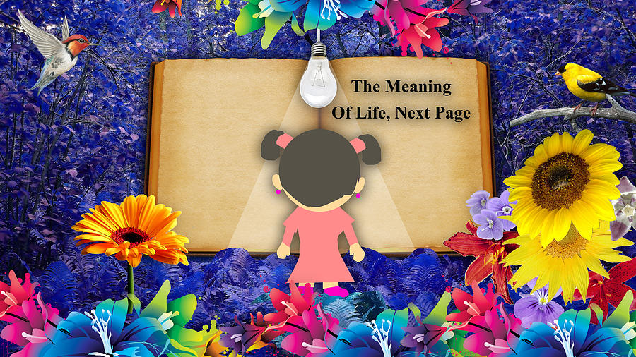 Fantasy Mixed Media - The Meaning Of Life Art by Marvin Blaine