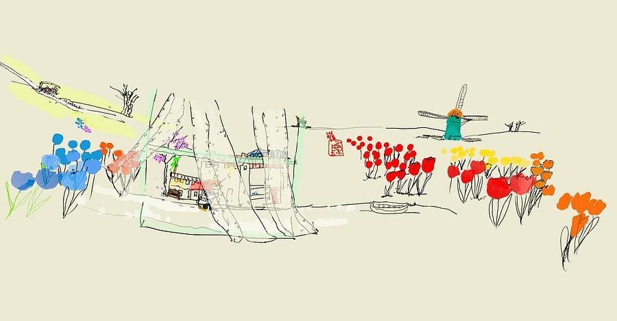 the Netherlands  3D Digital Art by Debbi Saccomanno Chan