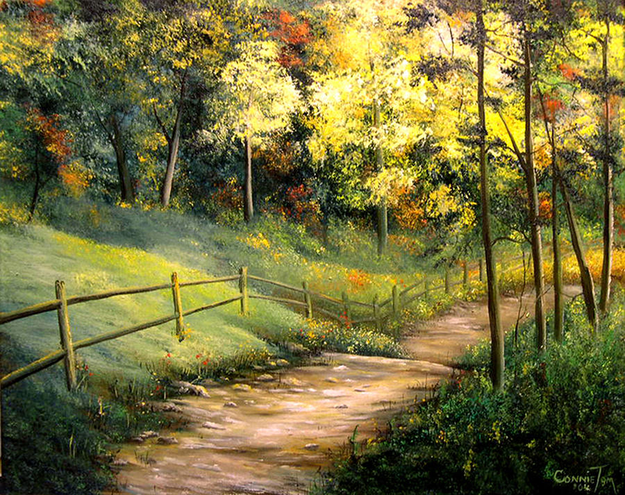 The Pathway Of Life Painting By Connie Tom