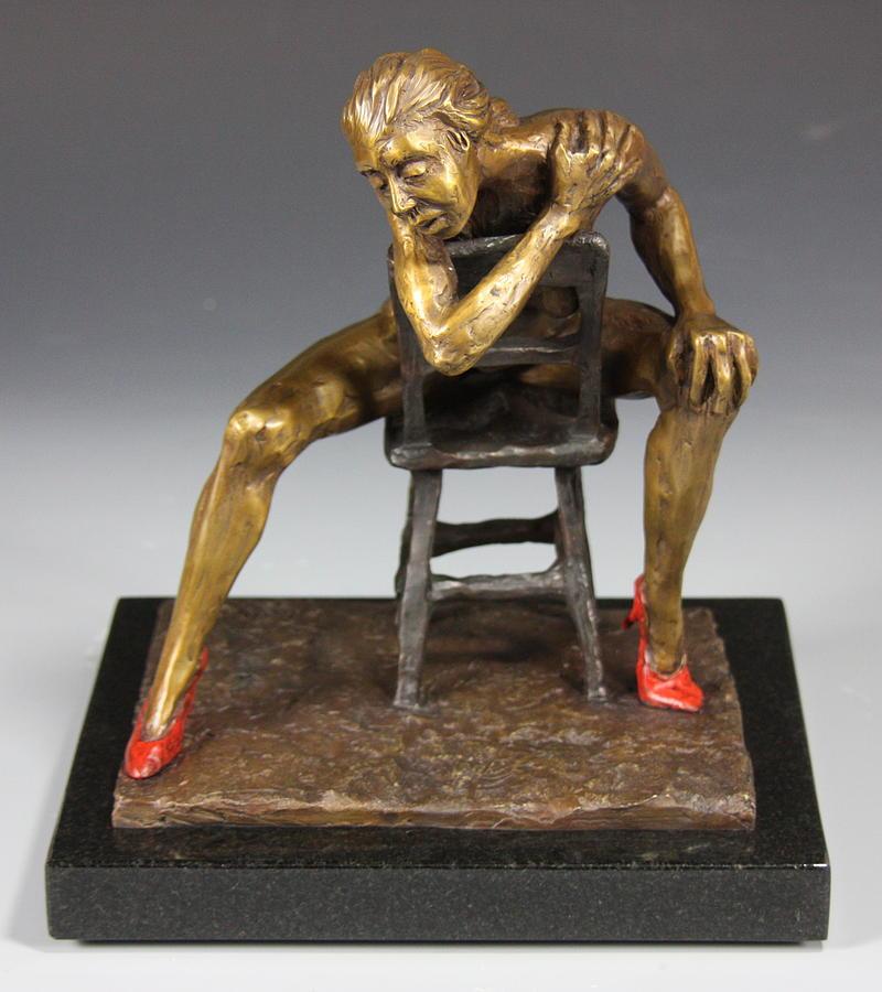 Female Nude Sculpture - The Red Heels by Dan Earle