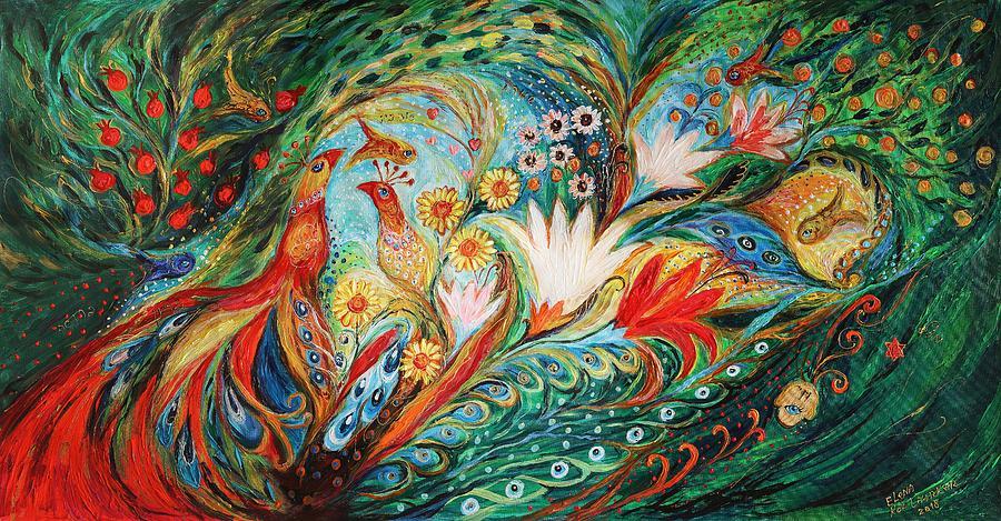 Judaica Store Painting - The Spring Morning by Elena Kotliarker