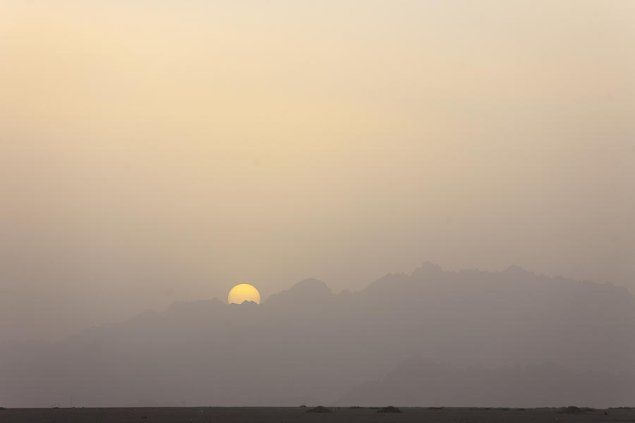 Africa Photograph - The Sun Sets Over The Mountains by Taylor S. Kennedy