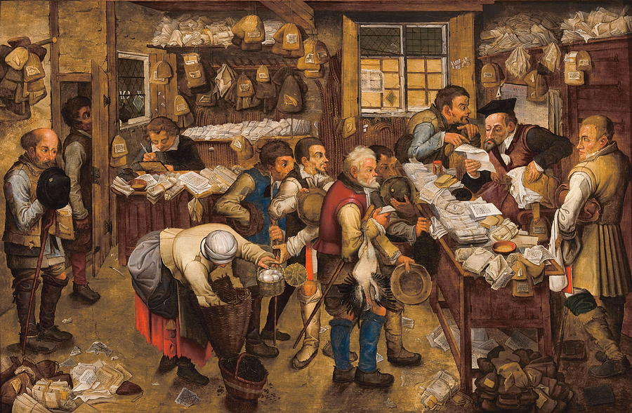 Collector Painting - The Tax Collectors Office  by Pieter Brueghel The Younger