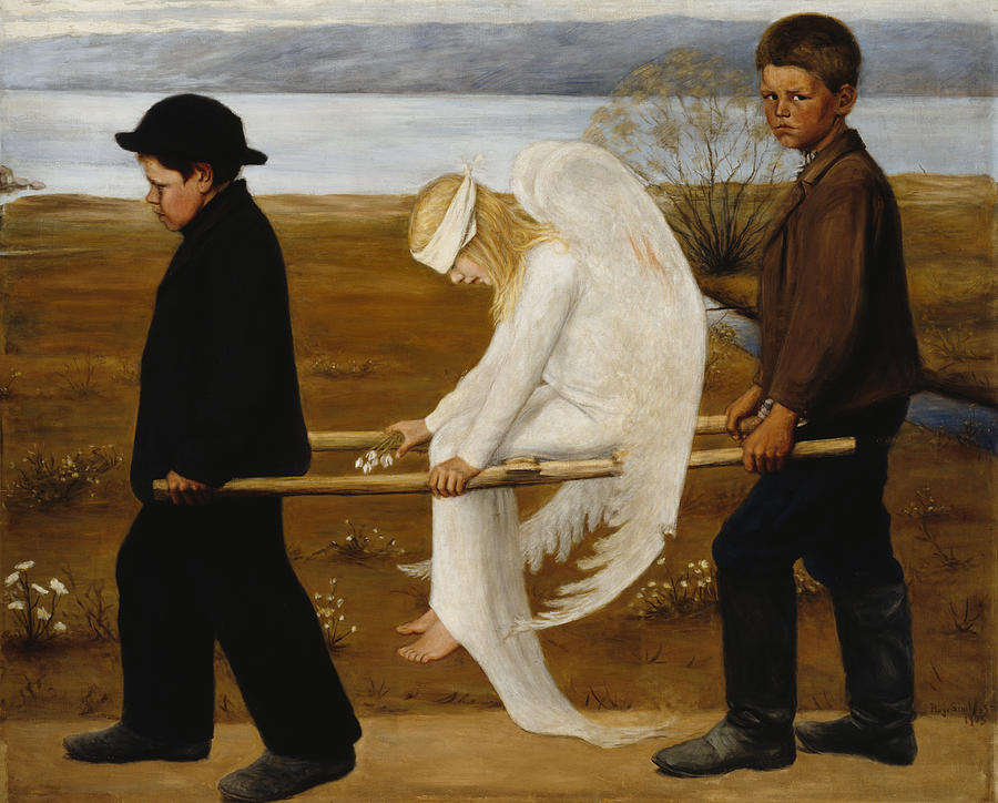 Hugo Simberg Painting - The Wounded Angel by Hugo Simberg