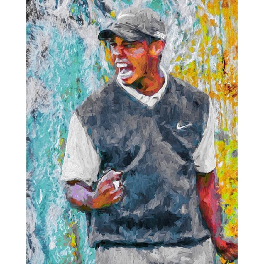 Love Photograph - #tiger #tigerwoods #golf #progress 2 by David Haskett II