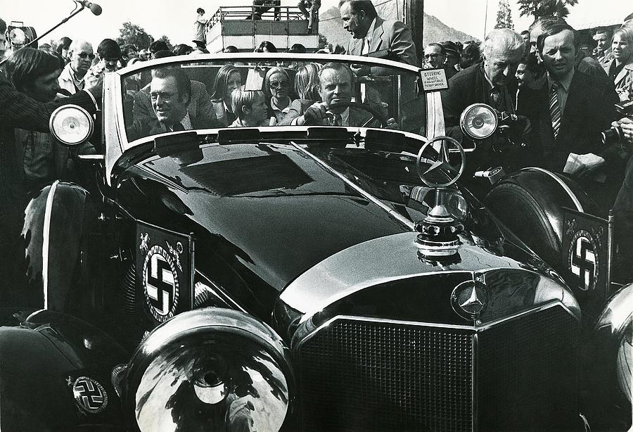 Tom Barrett And Family With High Bidder  Earl Clark At $153,000 Of Adolf Hitlers Mercedes Benz 770k Photograph by David Lee Guss