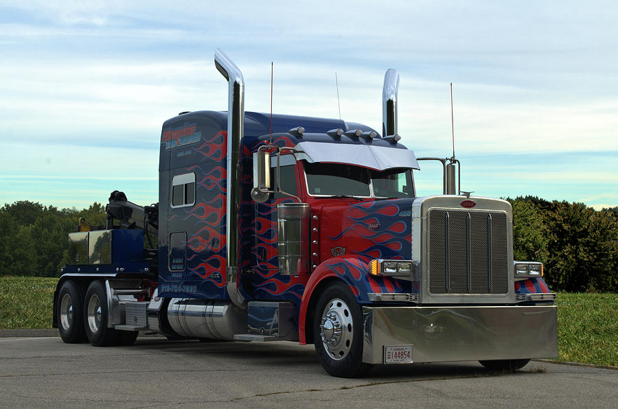 Transformers Optimus Prime Tow Truck Photograph By Tim