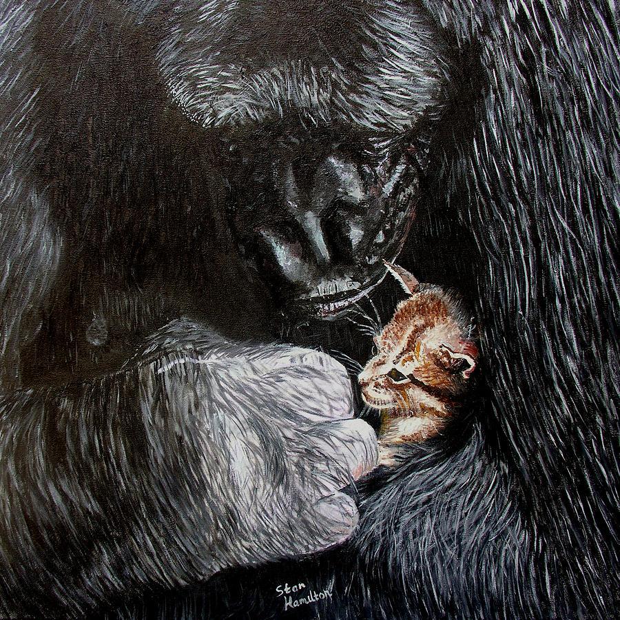 Kitten Painting - Tribute to Koko by Stan Hamilton