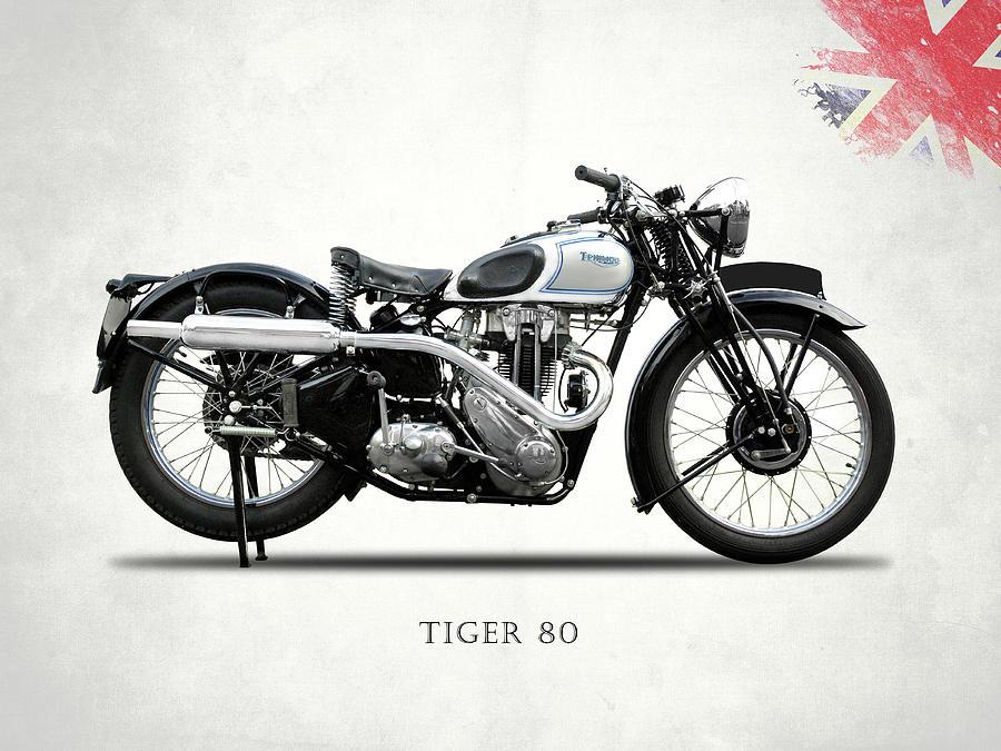 Triumph Tiger Photograph - Triumph Tiger 80 1937 by Mark Rogan