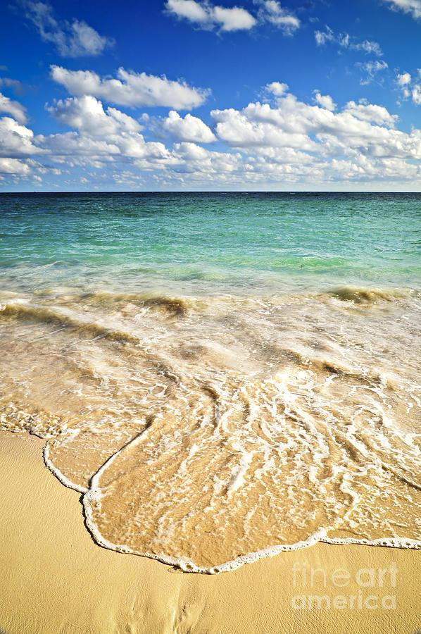 Wave On Tropical Beach Photograph