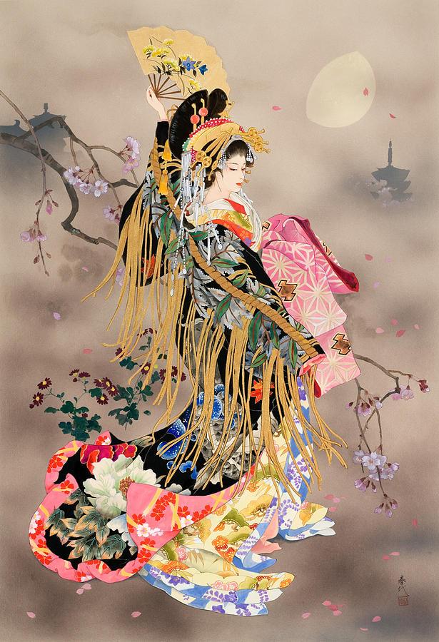 Tsuki No Uta Painting By Haruyo Morita