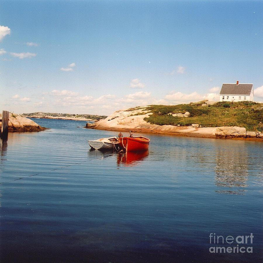 Nova Scotia Photograph - Two Boats by Andrea Simon